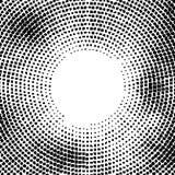 Halftone wektor zniekształcać kropki Halftone skutek tła pojęcie Winiety tekstura Kropki odizolowywać na białym tle Fotografia Stock