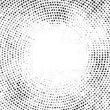 Halftone wektoru elemens Halftone skutek tła pojęcie Winiety tekstura Zniekształcać kwadrat kropki odizolowywać na białym backgr ilustracji