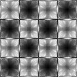 Halftone white and black inverse patterns composed as chessboard, seamless  background Royalty Free Stock Images