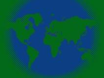 Halftone world map Stock Photo