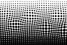 Halftone, wypukły chodzenie wzoru tekstury pointylizmu abstrakta bac ilustracja wektor