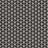 Halftone wzór Geometryczny bezszwowy wzór z czarnymi trójbokami ilustracji