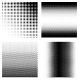 Halftone wzory Obraz Stock