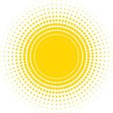 Halftone zon Stock Afbeeldingen