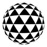 Halftone zwarte cirkel Stock Afbeelding