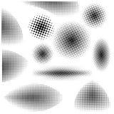 Halftone zwarte wit van het ontwerppunt Vector illustratie Vector Illustratie