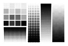 Halftones dots Stock Images