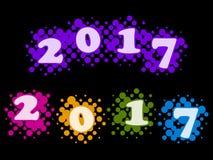 Halftones - kolor dzwoni 2017 Obrazy Royalty Free