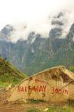 halfway bergsbestigningsnow för haba Royaltyfria Bilder