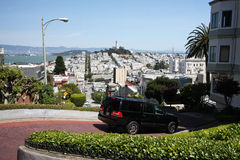 Halfway down Lombard Street, San Francisco Stock Image