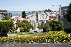 Halfway down Lombard Street, San Francisco Royalty Free Stock Photos