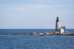 Halfway Rock Lighthouse Stock Photography