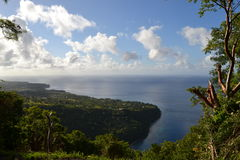 Halfway up Gros Piton Stock Photography