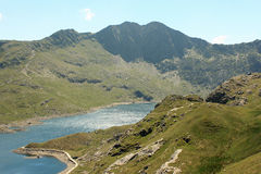 Halfway up mount snowdon. The view from halfway up mount snowdon wales Stock Photography