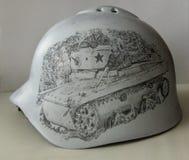 Halhingolka helmet. Drawing. Royalty Free Stock Photos