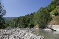Haliacmon flod Royaltyfri Bild