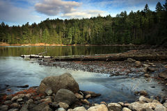 Haliburton Lake. Scenic view of a lake in Haliburton, Ontario Royalty Free Stock Images