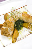 Halibut dish Royalty Free Stock Photo