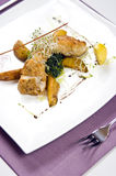 Halibut dish Stock Photo