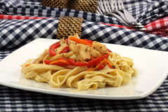 Halibut  fettuccine Royalty Free Stock Images