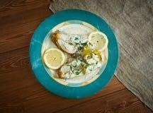 Halibut in Lemon Cream Stock Photography