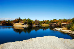 Halibut Point Granite Quarry Royalty Free Stock Photography