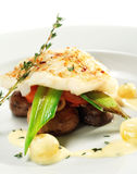 Halibut on Vegetable Stock Photography