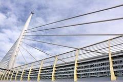 Halic地铁桥梁,伊斯坦布尔,土耳其 免版税图库摄影