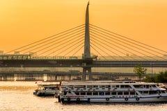Halic metro bridge Royalty Free Stock Photos