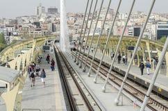 Halic tunnelbanastation Arkivfoto