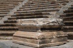 Halicarnassus,现在博德鲁姆古老剧院的废墟  免版税库存图片