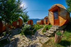HALIDZOR,亚美尼亚- 2017年8月03日:Harsnadzor Eco手段cottag 免版税库存照片