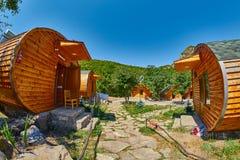 HALIDZOR,亚美尼亚- 2017年8月03日:Harsnadzor Eco手段cottag 免版税图库摄影