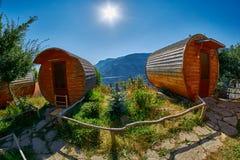 HALIDZOR, ARMENIA - 03 AUGUST 2017: Harsnadzor Eco Resort cottag. Es near Tatev Monastery Stock Images