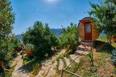 HALIDZOR, ARMENIA - 03 AUGUST 2017: Harsnadzor Eco Resort cottag. Es near Tatev Monastery Stock Photography