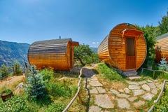 HALIDZOR, ARMENIA - 03 AUGUST 2017: Harsnadzor Eco Resort cottag. Es near Tatev Monastery Royalty Free Stock Photos