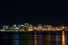 Halifax alla notte Fotografia Stock