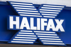 Halifax Bank uttag Arkivfoto