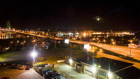 Halifax bij nacht Stock Foto's
