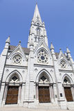 Halifax Cathedral Basilica. The entrance to St. Mary`s Cathedral Basilica in Halifax city Nova Scotia Stock Photography