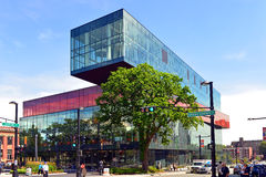 Halifax Central Library. Halifax, Nova Scotia, Canada - August 5, 2015: The award winning Halifax Central Library on Spring Garden Road which opened to the Stock Photo