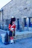 Halifax citadell, med soldater i traditionella likformig fotografering för bildbyråer