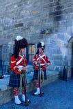 Halifax citadell, med soldater i traditionella likformig arkivfoton