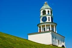 Halifax clock. The Halifax clock tower in front of the citadel, Halifax, Nova Scotia stock photos