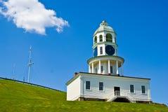 Halifax clock. The Halifax clock tower in front of the citadel, Halifax, Nova Scotia royalty free stock photo