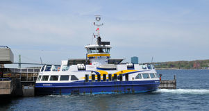 Halifax Dartmouth Ferry. HALIFAX NOVA SCOTIA JUNE 7:  Halifax Dartmouth Ferry is the oldest saltwater ferry in North America and the second oldest in the world ( Royalty Free Stock Image