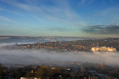 Halifax in the fog. Halifax West Yorkshire uk on a foggy morning Royalty Free Stock Photography
