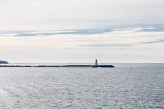 Halifax fyr i Dawn Light Royaltyfria Foton