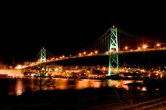 Halifax MacDonald Bridge Royaltyfri Foto