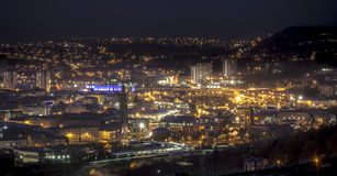 Halifax At Night. A shot of Halifax in the Uk at night Royalty Free Stock Images